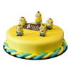 Minion poppetjes taart